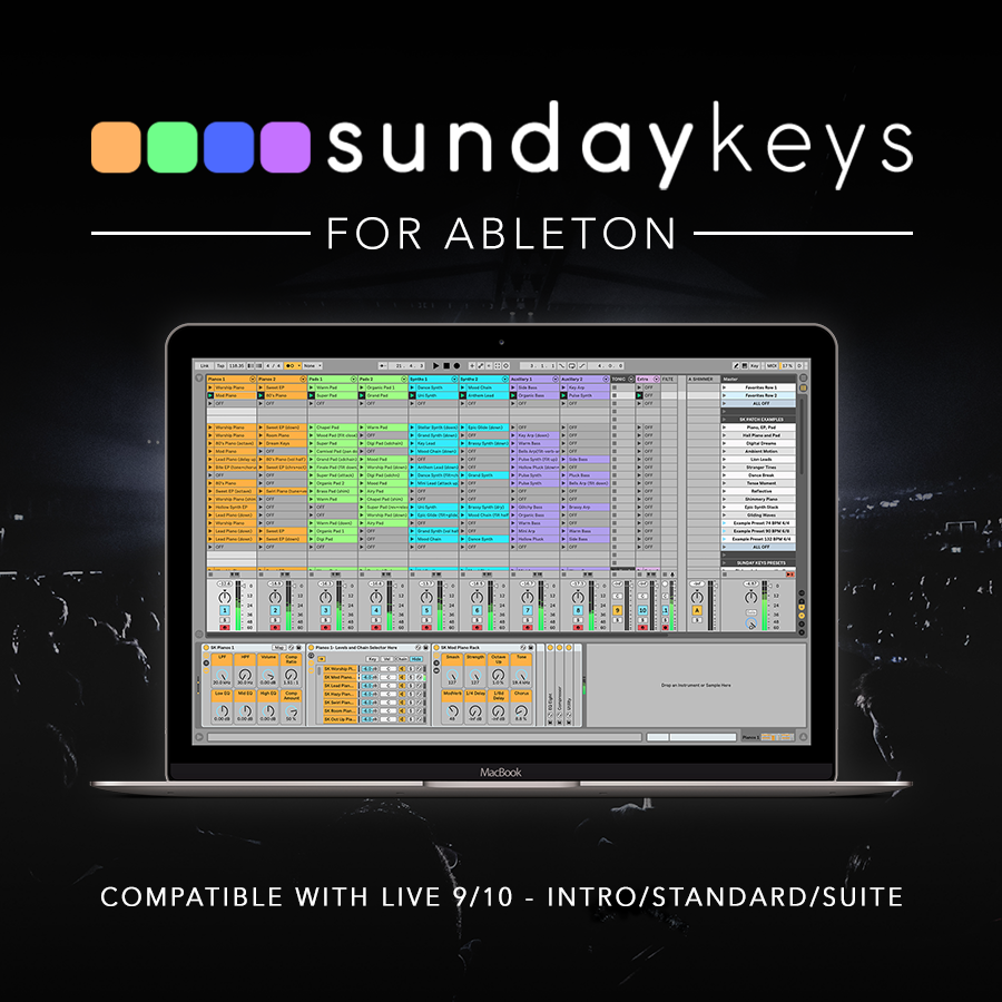 Sunday Keys For Ableton Ableton Live Worship Keys Template