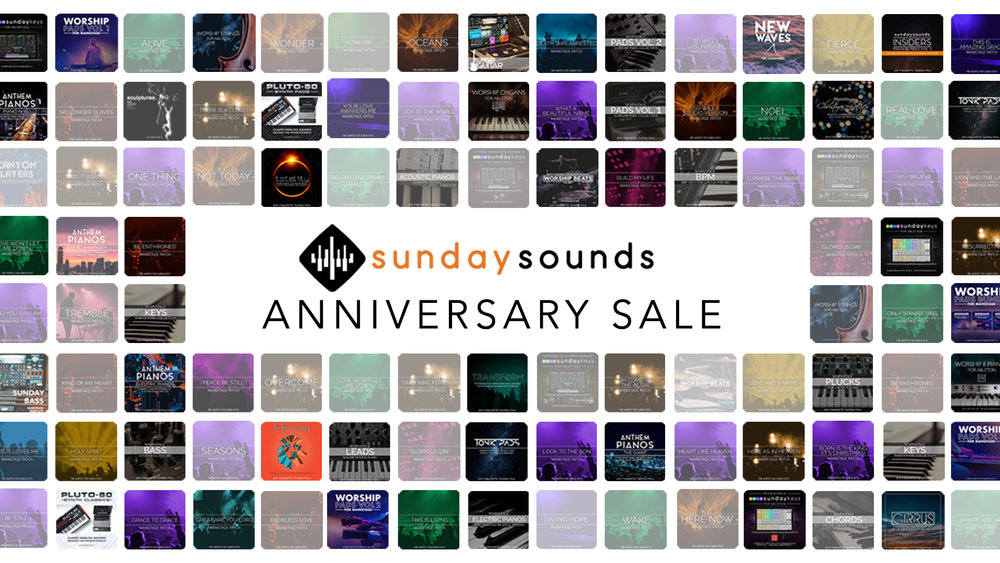 3 Year Anniversary Sale! — MainStage Patches and Templates