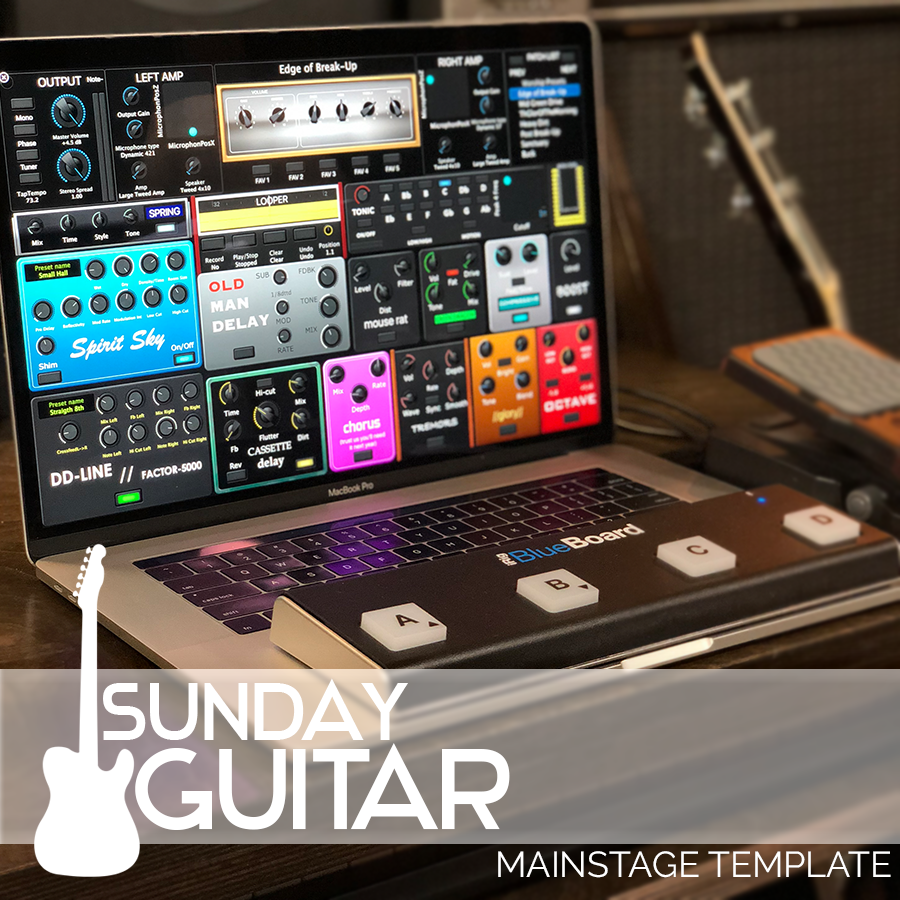 sunday guitar mainstage worship guitar template mainstage patches