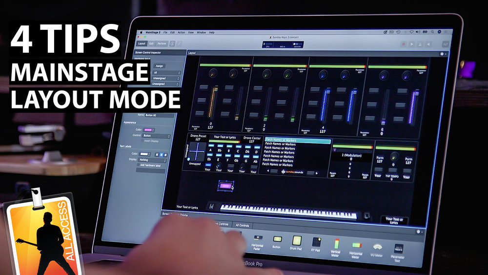 MainStage Tutorial: 4 Tips for Working in Layout Mode