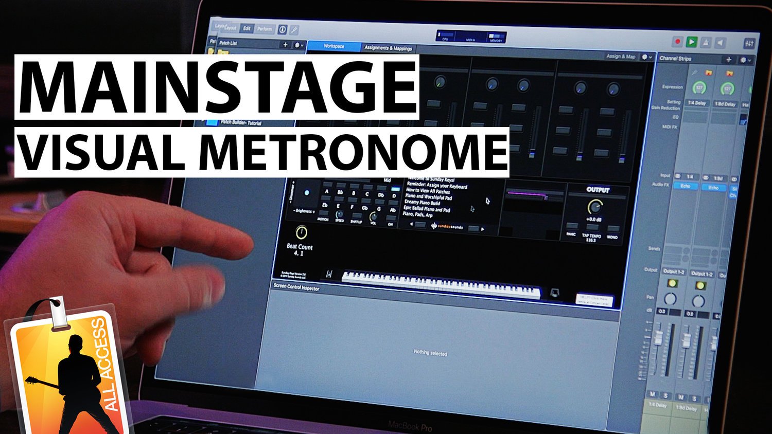 MainStage Tutorial: Creating a Visual Metronome in MainStage