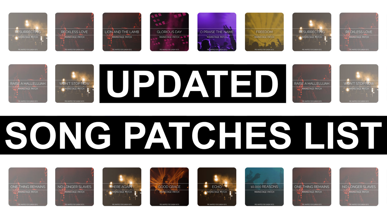 Updated Song Specific Patches! — MainStage Patches and