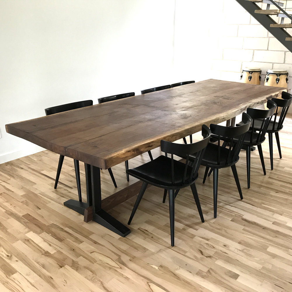 Nak Live Edge Dining Table by Mockingbird Made