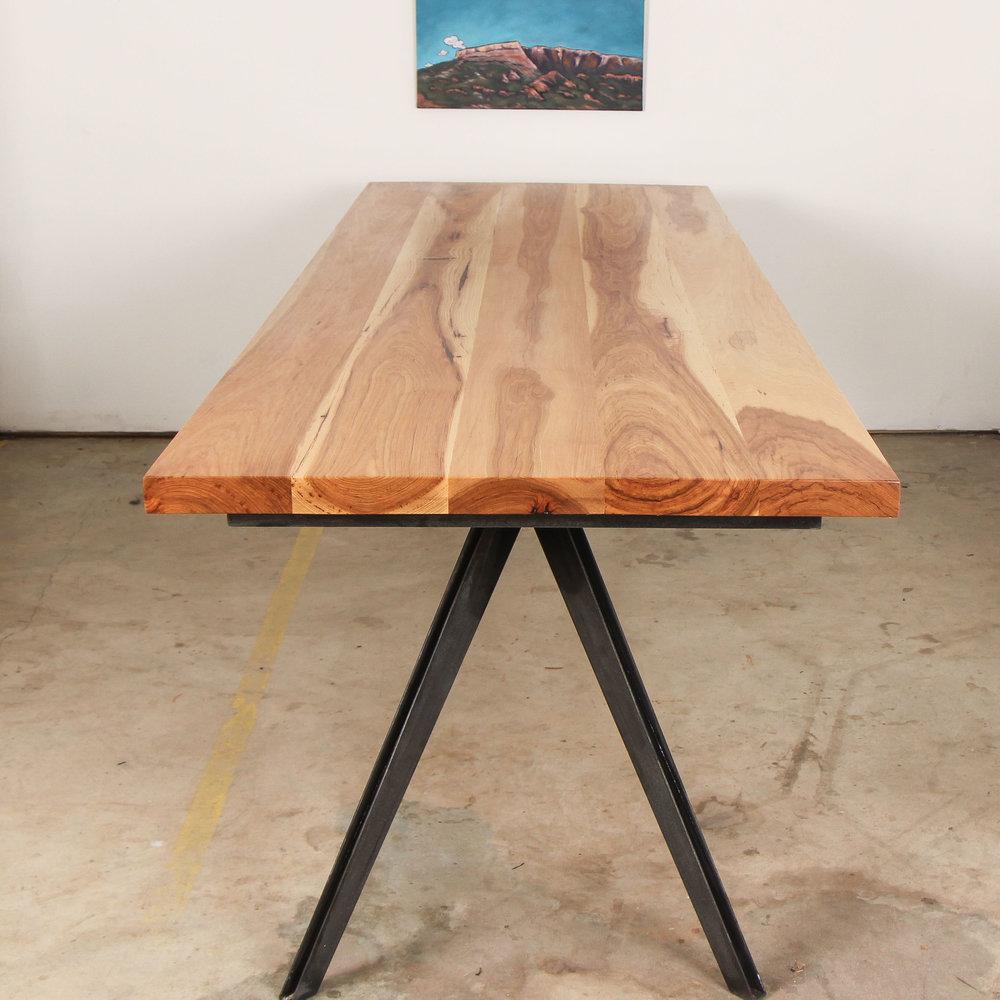 Arrow Pecan Dining Table by Mockingbird Made