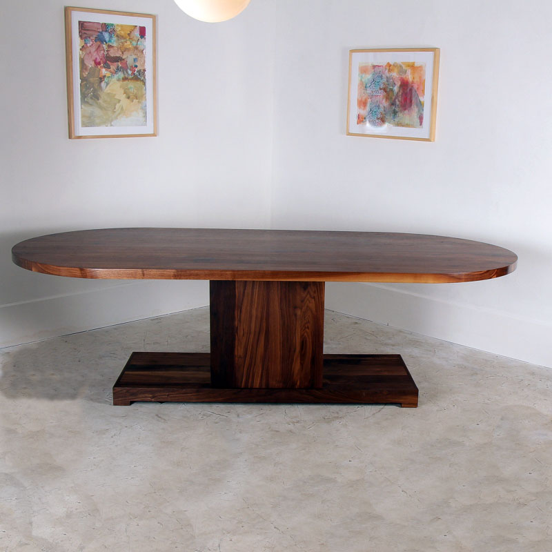 Walnut Racetrack Dining Table