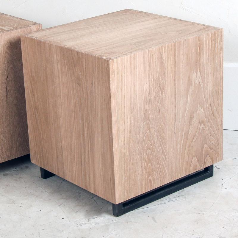 Oak Cube Side Table