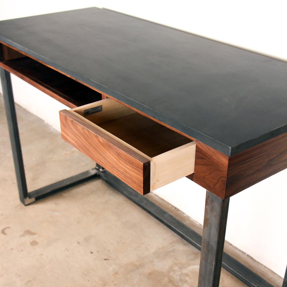 Phenolic Walnut Steel Desk