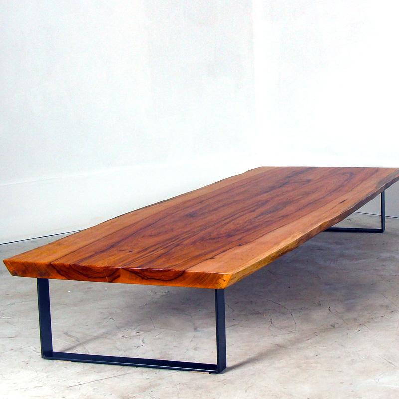 Live Edge Pecan Strap Coffee Table