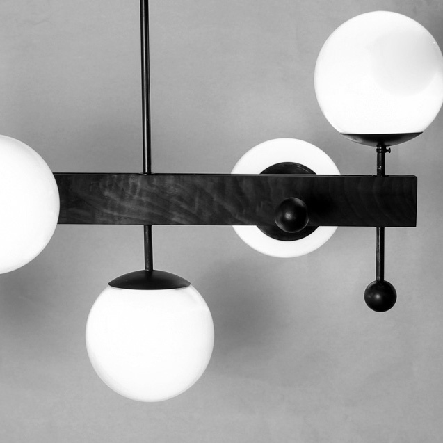 5 Globe Walnut Light