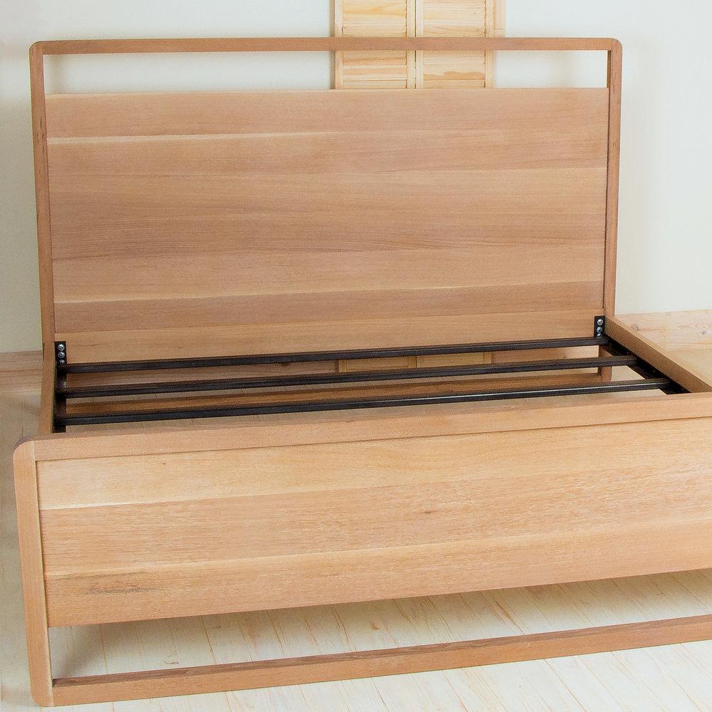 Oak King Bed for Liz MacPhail Interiors
