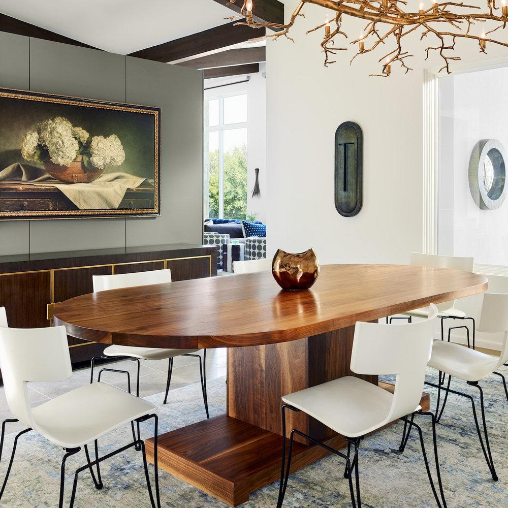 Walnut Racetrack Dining Table for Mark Ashby Design