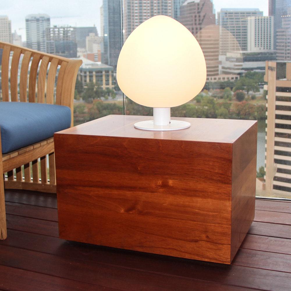 Spanish Cedar & Steel Outdoor Table