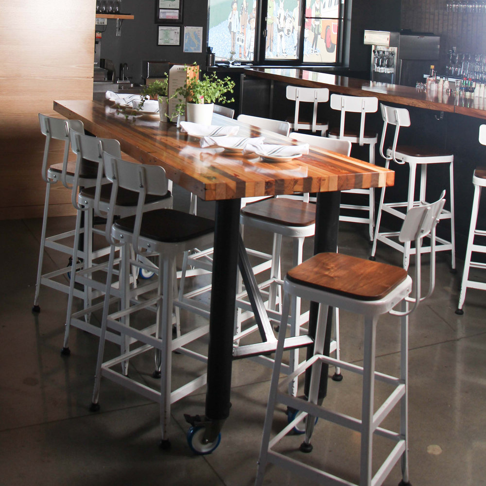 Butcher Block Bar Table