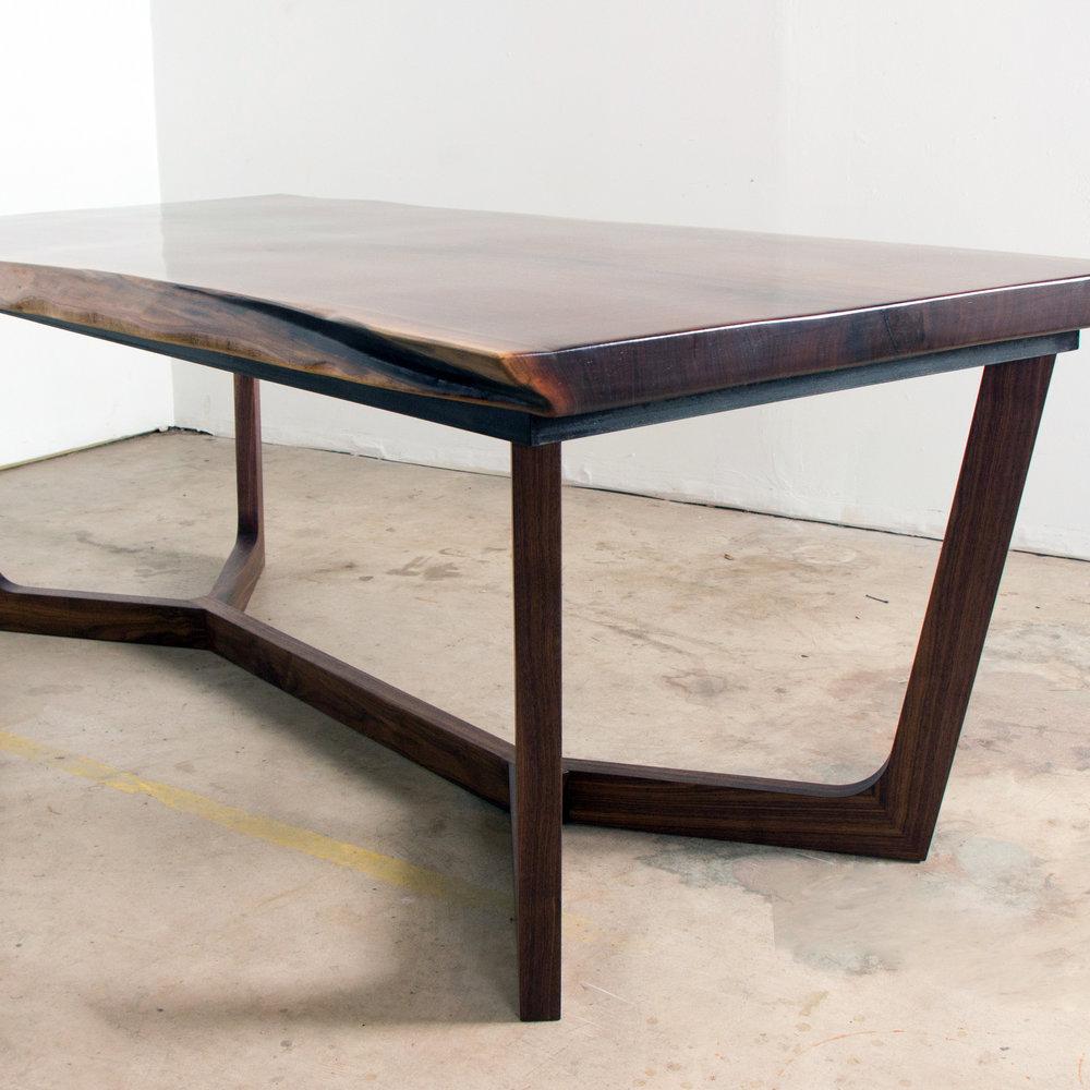 Walnut Bow Dining Table