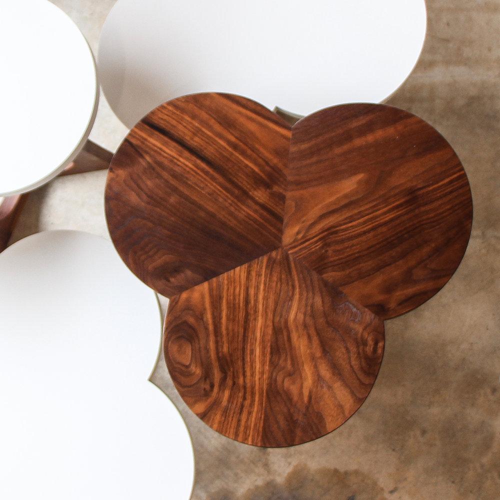 Walnut Clover Side Table
