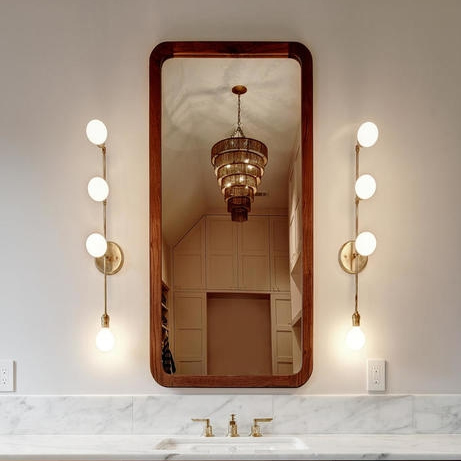 Walnut Curved Mirror for Suzie Page