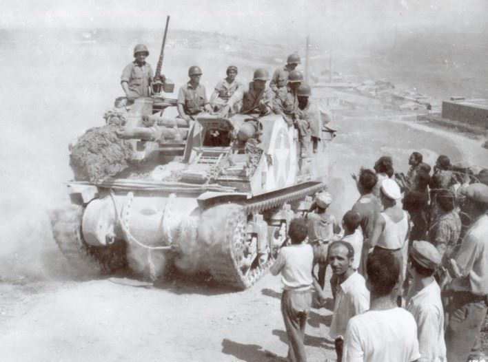 M7 Priest of 2nd Armored Division. Sciacca, Sicily.