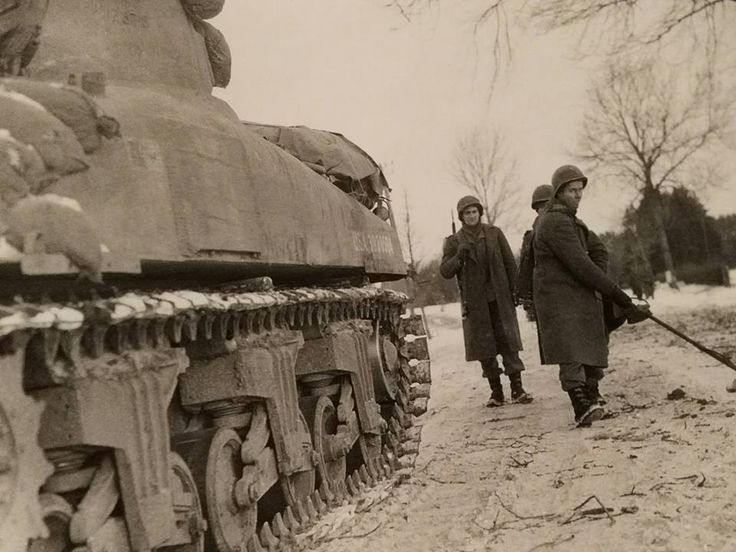 2nd Armored Division engineers near Houffalize, Belgium.