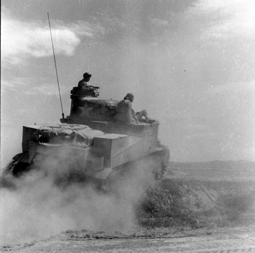 ''ARAB'' 13th Armored Regiment, 1st Armored Division. El Guettar, Tunisia. Apr 1943. Photo 1 of 2.