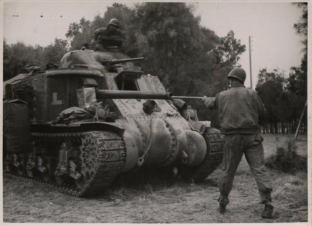 Company F, 2nd Battalion, 13th Armored Regiment, 1st Armored Division. Medjez el Bab, Tunisia. Nov 1942.