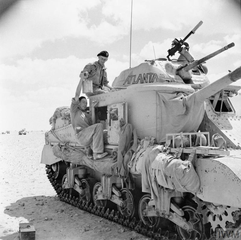 British Grant tank 'Atlanta II' of A Squadron, Royal Gloucestershire Hussars, 10 Sep 1942. IWM photo E 16711