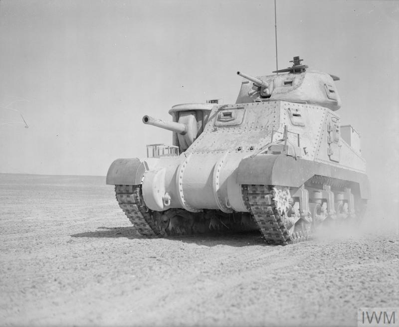 A Grant tank in the Western Desert, 17 Feb 1942. IWM photo E 8475