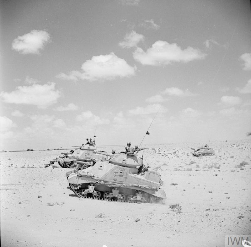 Grant tanks training in the Western Desert, 26 Aug 1942. IWM photo E 16133