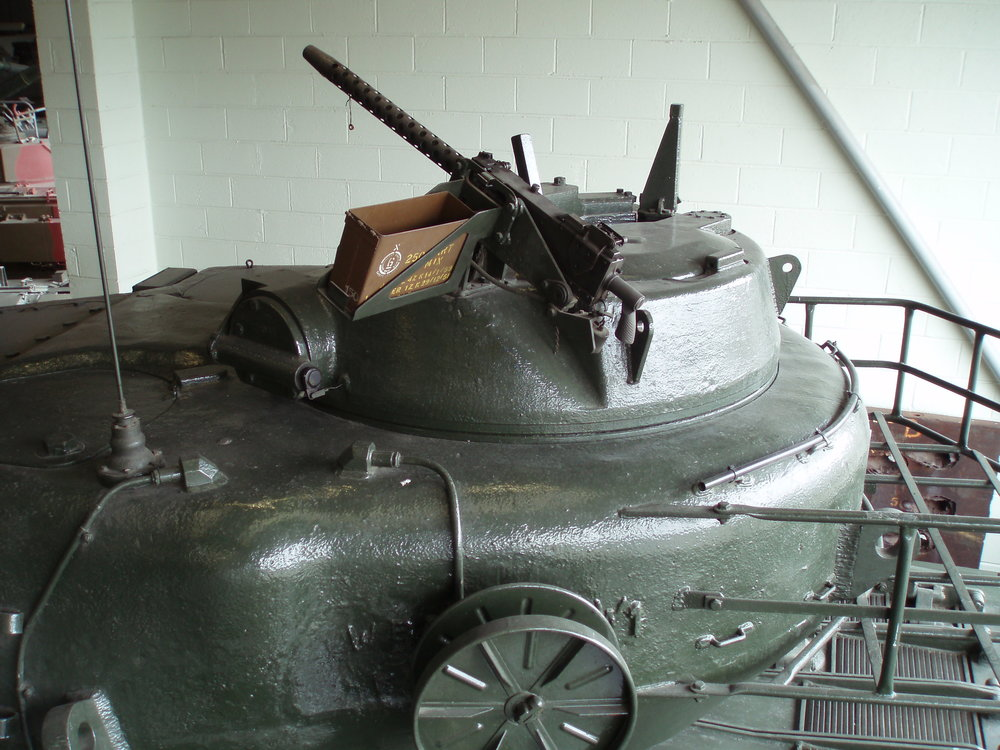 Commander's cupola of the Conqueror MK.I displayed at Bovington.
