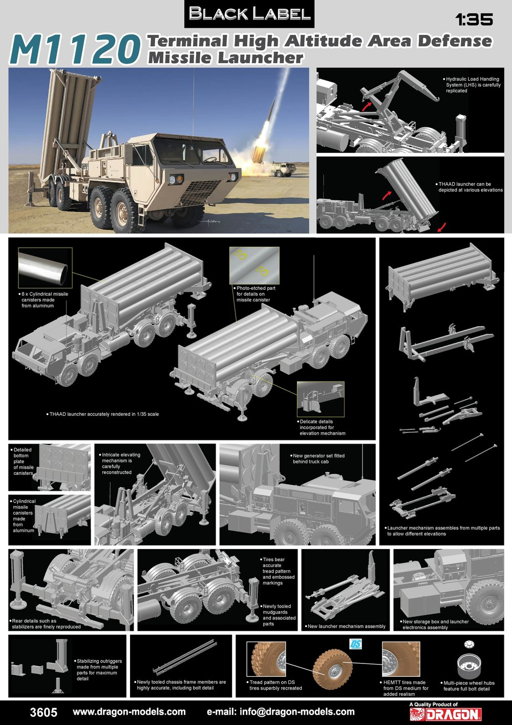 DRAGON (BLACK LABEL) KIT # 3605 1_35 M1120 Terminal High Altitude Area Defense Missile Launcher.jpg