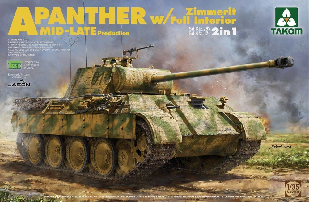 TAKOM KIT # 2100 1-35 Panther Ausf.A Mid-Late production with Zimmerit..jpg