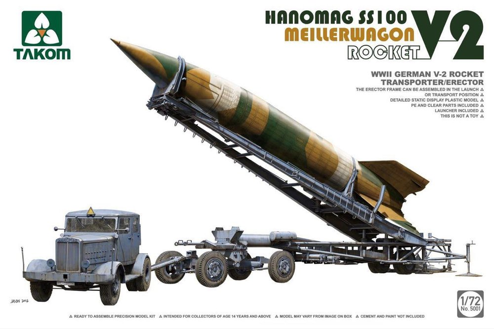 TAKOM KIT # 5001 1_72 Hanomag SS 100 w_Meillerwagen & V-2 Rocket.jpg