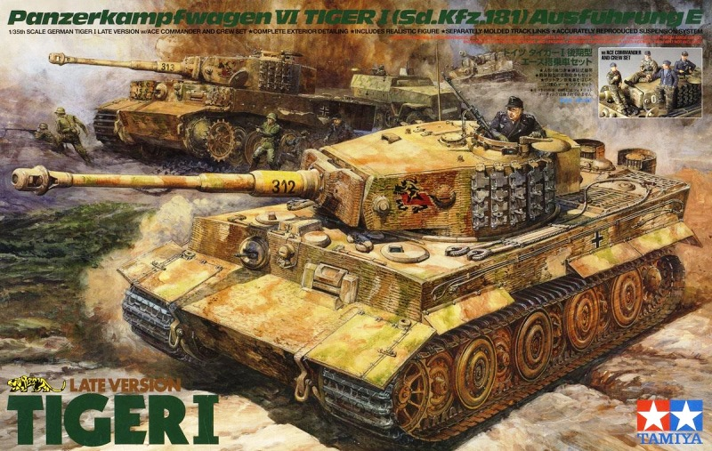 TAMIYA KIT # 25401 1-35 GERMAN TIGER I LATE VERSION W.ACE COMMANDER AND CREW SET.jpg