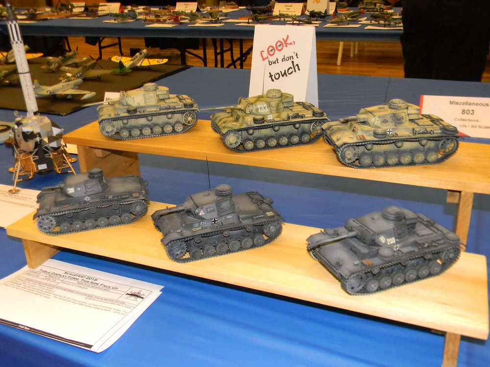 SCALEFEST 2018 - 1st PLACE WIN, 1/35 Scale Collection of Six Panzer IIIs