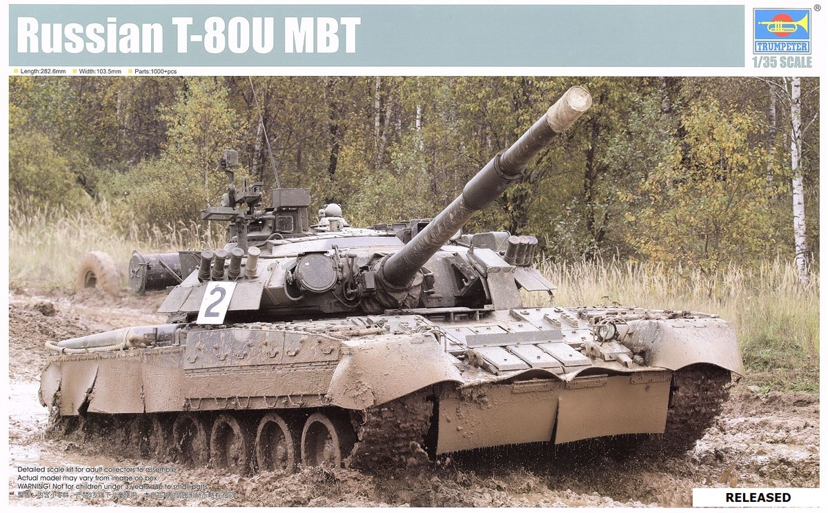 42c60920af09 TRUMPETER   09525 1 35 RUSSIAN T-80U MBT — Hell On Wheels - AMPS