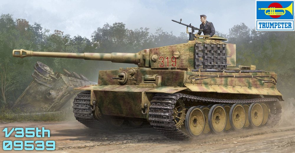TRUMPETER KIT # 09539 1-35 Tiger I (Mid. Production).jpg