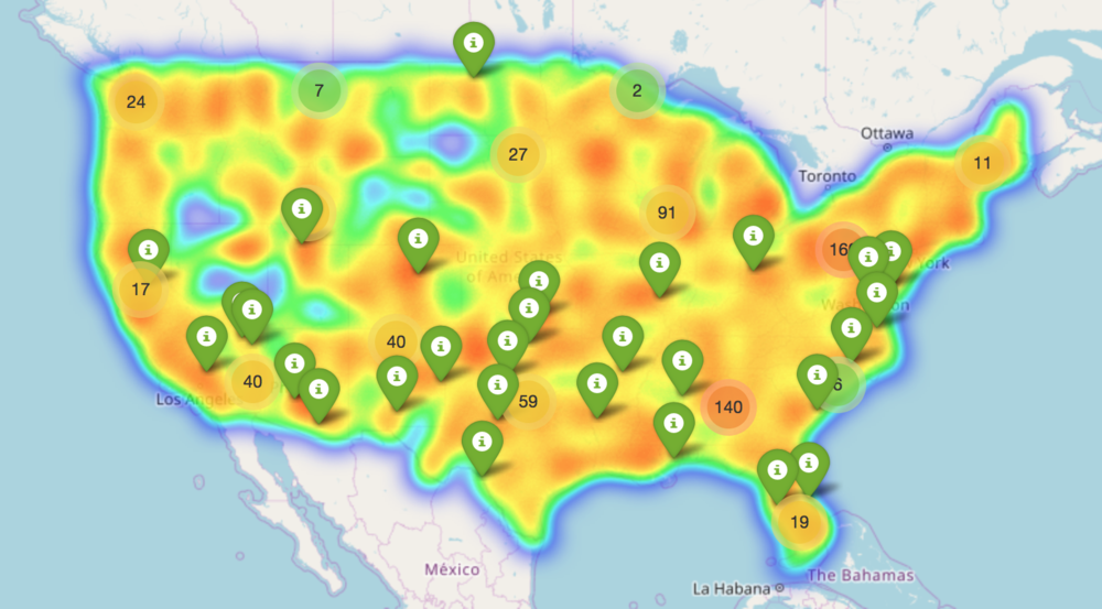 An image of the heat map. For the actual map see the website link.