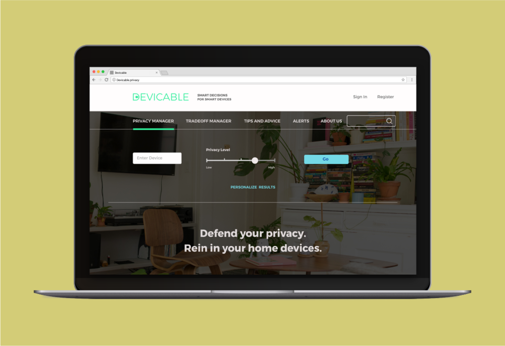 Devicable: A web app to make  Privacy and Security in home IoT choices clear