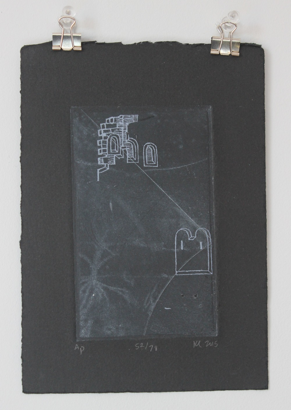 3478  Artist-Kristy Castellano   5 x 7 inches   intaglio and screen printing on paper