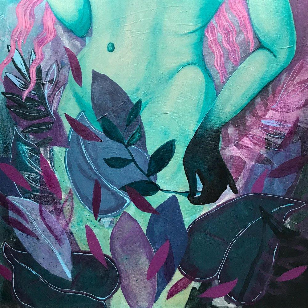 Eve  Artist-Kristy Castellano  3 x 3 feet  acrylic on canvas
