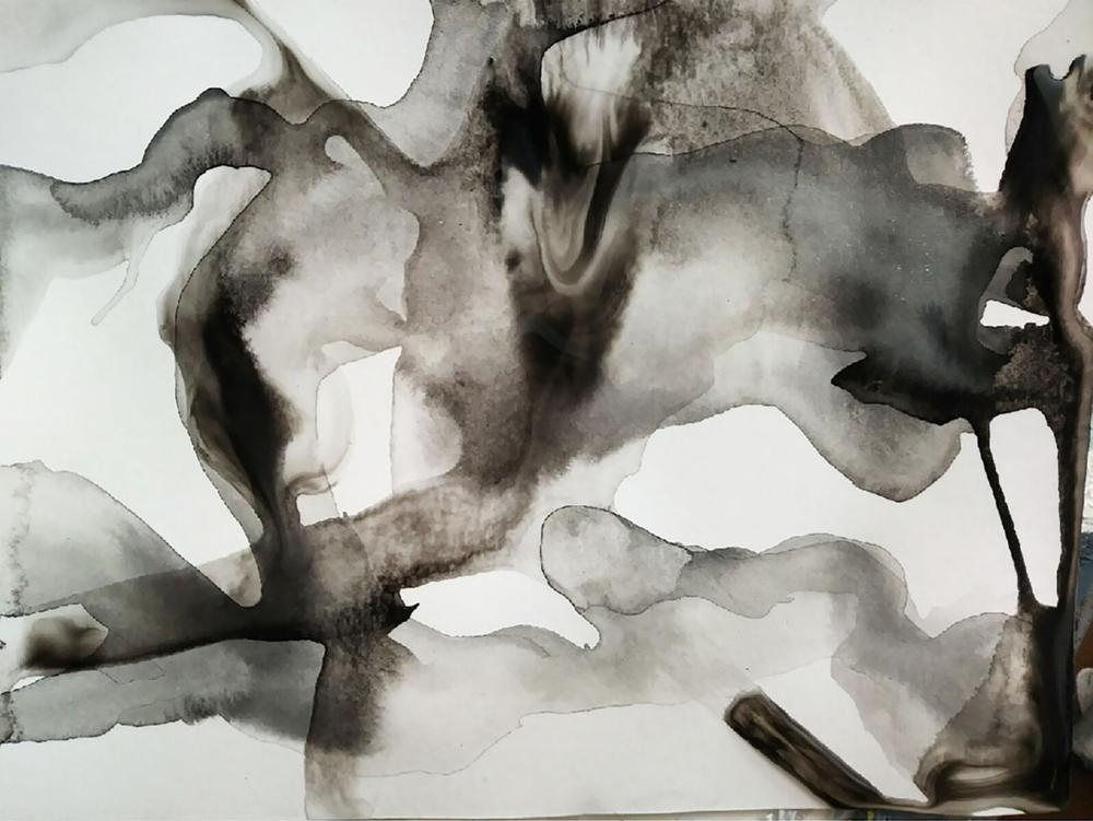 """马  2.5 x 5""""  Ink on paper"""