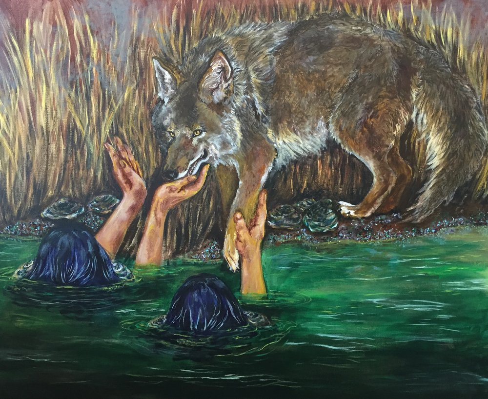 Temptations of the Coyote    Acrylic on canvas
