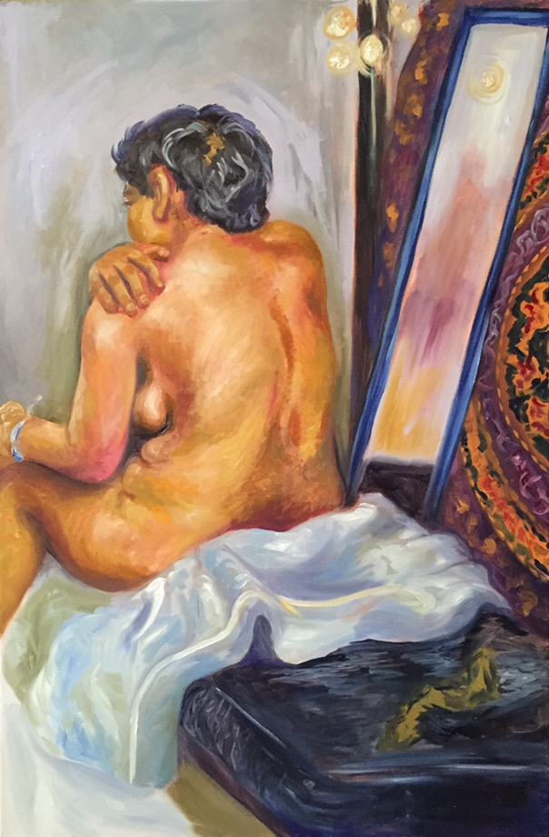 Figure Study: Woman    Oil on canvas
