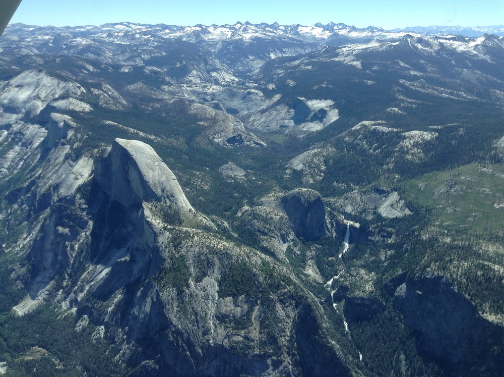 Training in the Sierras with Finer Points of Flying, Half Dome, Yosemite