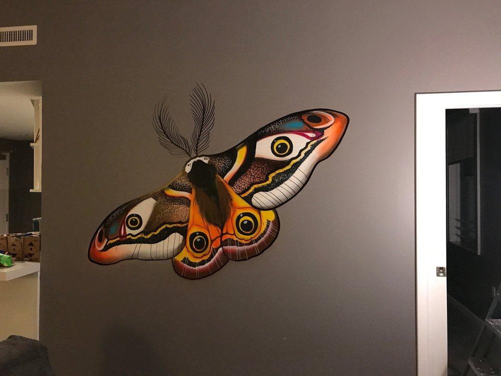 Moth Mural - Presidential Suite - Franklin Hotel South Beach