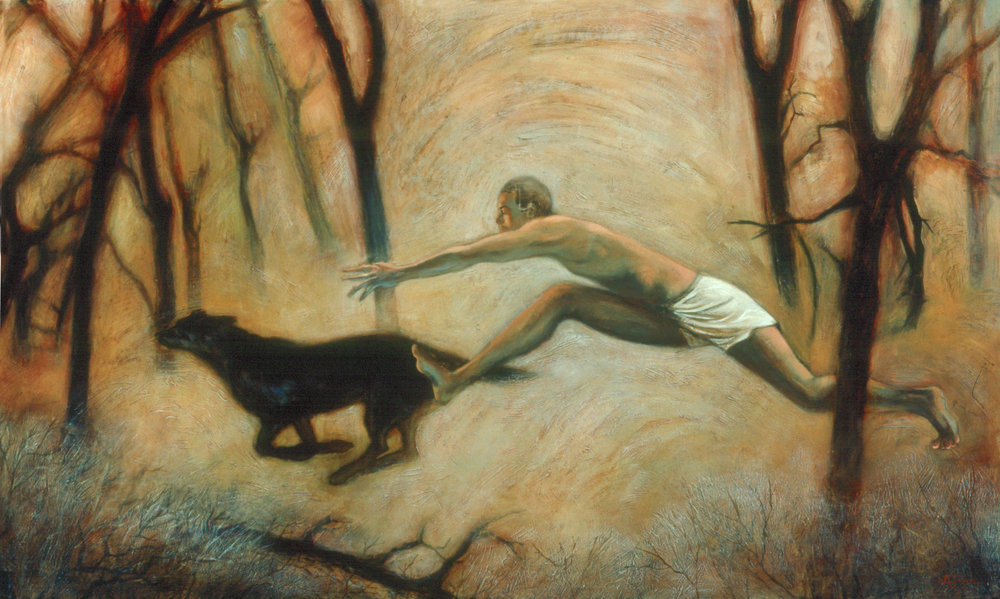 Man Who Runs With Dog II