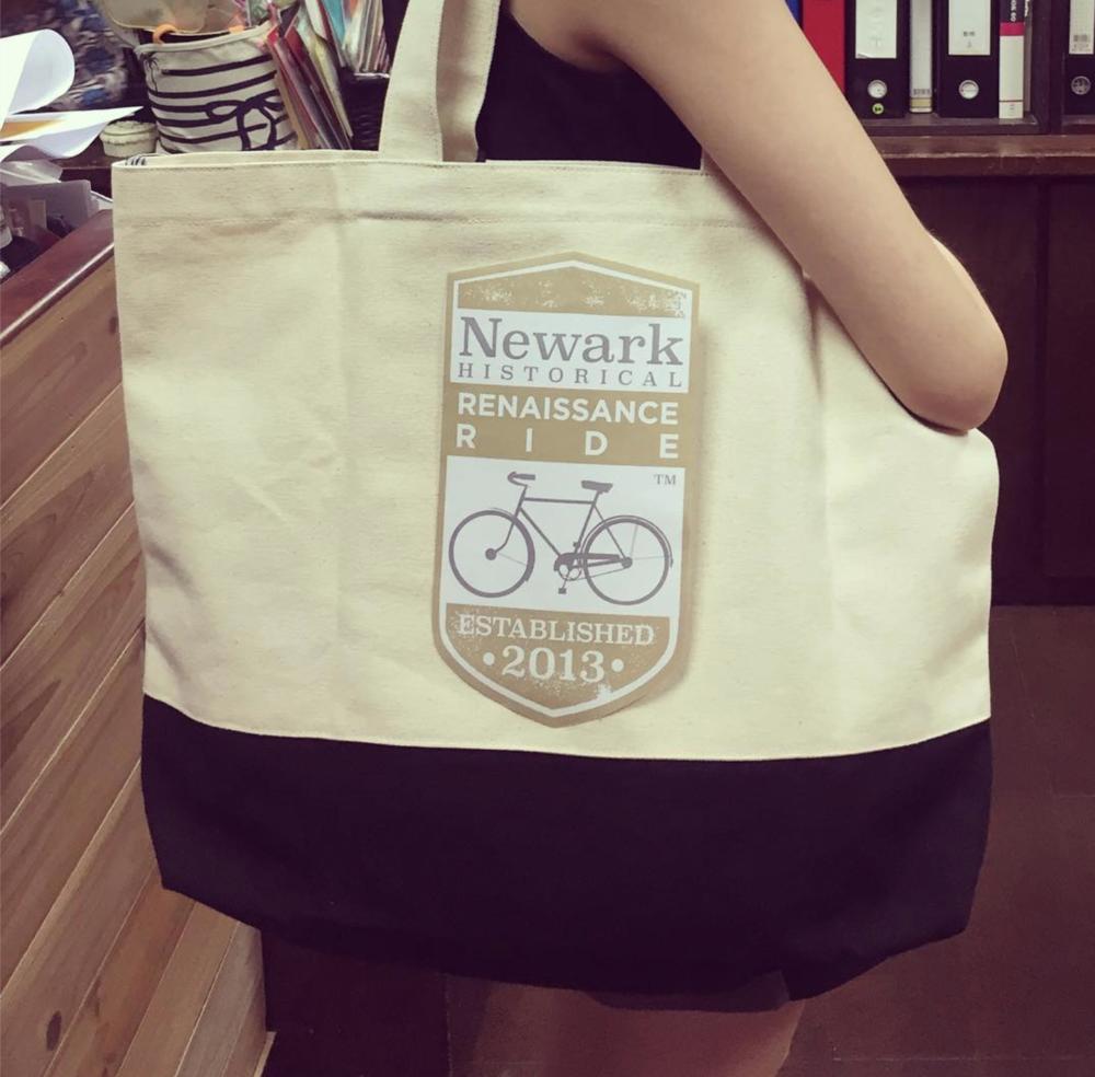 "Newark Historical Renaissance Ride Canvas Logo ""SWAG"" Tote"