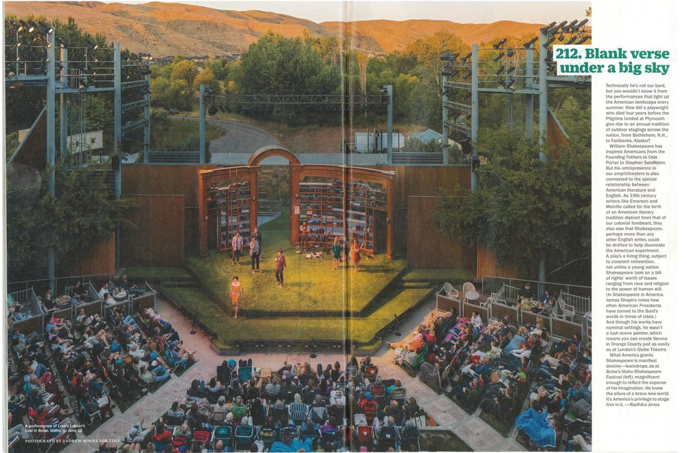 Idaho Shakespeare Festival : 1998  - Featured here in TIME Magazine