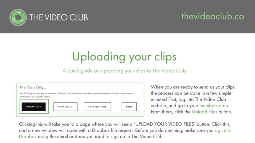 uploading clips