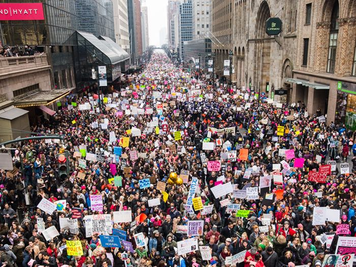 """New York marchers said they felt empowered, """"I feel like the revolution is now."""""""