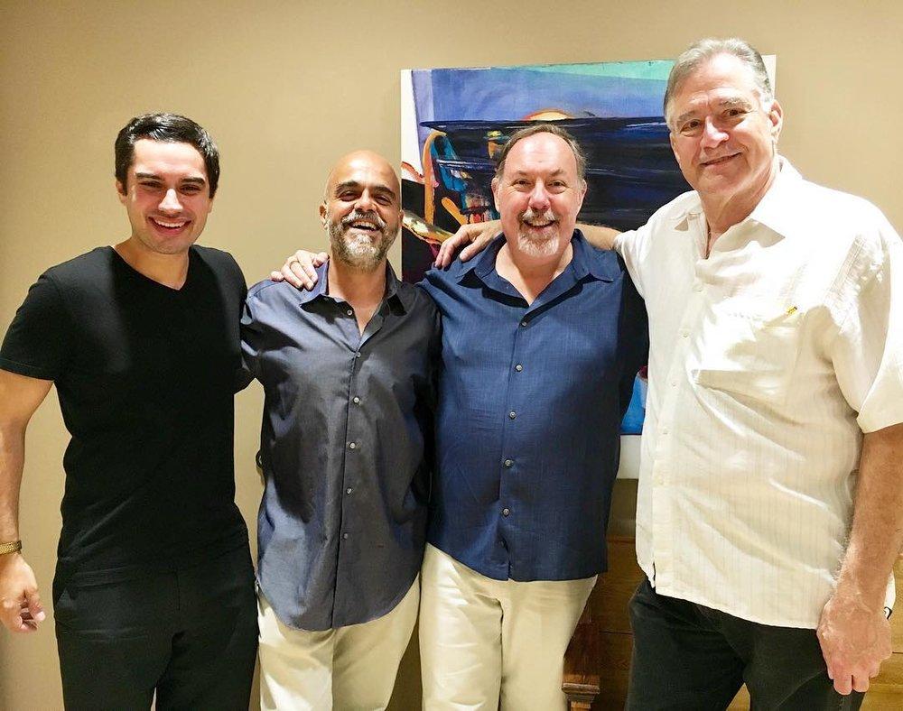 August, 2018 - Kareem, Fabiano de Castro, Bert Jackson, & Ron Ormsby